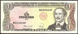 Rep. Dominicana 1 Peso Oro PK 126 (1.988) S/C