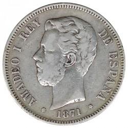 5 Ptas 1871 * 74 DEM MBC