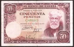 50 Ptas 1951 Santiago Rusiñol MBC
