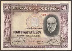50Ptas 1935 Ramón y Cajal. MBC