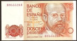 200 Pesetas 1980 Pareja Leopoldo A. Clarín S/C