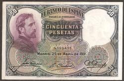 50 Ptas 1931 Eduardo Rosales MBC+
