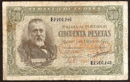 50 Ptas 1940 Menéndez Pelayo BC+