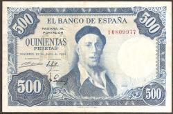 500 Pesetas 1954 Zuloaga MBC