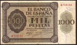 "1000 Pesetas 1936 Burgos ""Alcázar de Toledo"" MBC-"