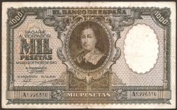 1000 Pesetas 1940 Murillo MBC+