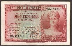 10 Pesetas 1935 República MBC+