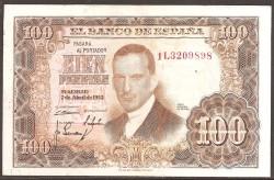 100 Pesetas 1953 Julio Romero de Torres MBC+