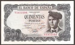 500 Pesetas 1971 Jacinto Verdaguer EBC-