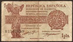 1 Peseta 1937 República MBC-