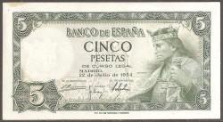 5 Ptas 1954 Alfonso X El Sabio MBC+