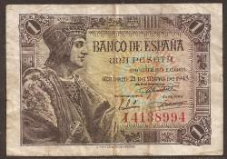 1 Peseta 1943 Fernando el Católico. MBC-