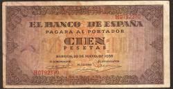 100 Pesetas 1938 Burgos. Casa del Cordón MBC+