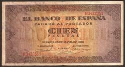 100 Pesetas 1938 Burgos. Casa del Cordón MBC-