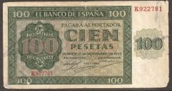 100 Pesetas 1936 Burgos Catedral MBC-