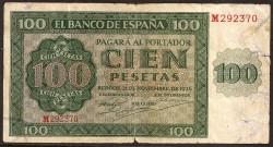100 Pesetas 1936 Burgos Catedral BC