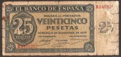 25 Pesetas 1936 Burgos BC