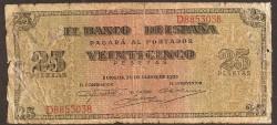 25 Pesetas 1938 Burgos Giralda MC