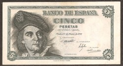 5 Ptas 1948 Juan Sebastián de Elcano SC-