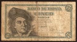 5 Ptas 1948 Juan Sebastián de Elcano RC