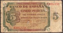 5 Ptas 1938 Burgos BC-