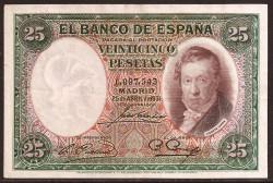 25 Pesetas 1931 Vicente López MBC-