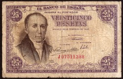 25 Pesetas 1946 A. Flórez Estrada BC