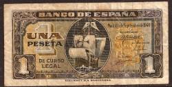1 Peseta 1940 Carabela Santa Maria. MBC-