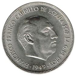 5 Ptas 1949 * 50 S/C-