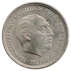 5 Ptas 1957 * 64 S/C