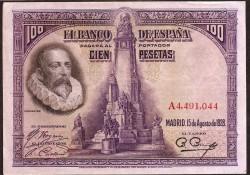 100 Pesetas 1928 Cervantes MBC+