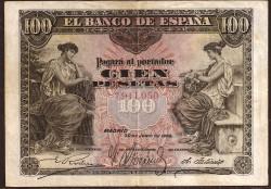 100 Pesetas 1906 MBC+