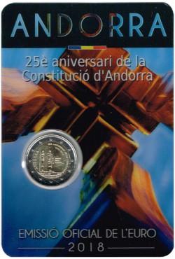 Andorra 2018 2 Euros 25º Aniversario de la Constitución de Andorra S/C