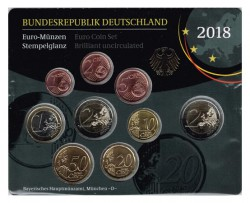 Germany 2018 1 Official Euroset UNC