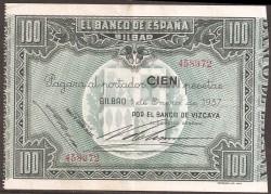 100 Ptas Bilbao. 1937. MBC+