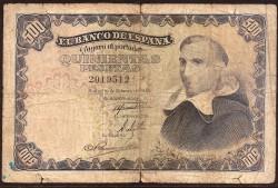 500 Pesetas 1946 P Francisco de Vitoria BC-