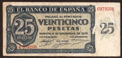 25 Pesetas 1936 Burgos MBC-