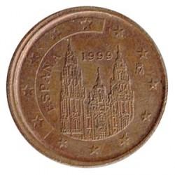 España 1999 2 Céntimos Acuñación Desplazada MBC+