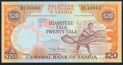 Samoa Occidental 20 Tala PK 35a (2.002) S/C
