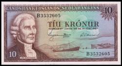 Islandia 10 Coronas PK 38a (21-6-1.957) EBC