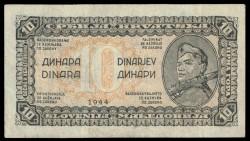 Yugoslavia 10 Dinares PK 50 (1.944) MBC