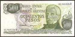 Argentina 500 Pesos PK 303c (1.977-82) S/C