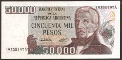 Argentina 50.000 Pesos PK 307 (1.979-83) S/C