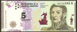 Argentina 5 Pesos PK 359 (2.015) S/C