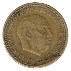 1 Pta 1947 * 53 Cuño Descantillado MBC