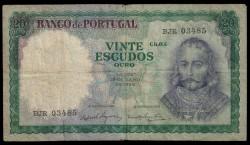 Portugal 20 Escudos Pk 163a (26-7-1.960) MBC