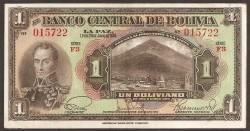 Bolivia 1 Boliviano PK 118 (1.928) MBC+