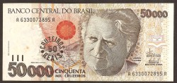 Brasil 50 Cruzeiros Reais en 50.000 Cruzeiros PK 237 (1.993) S/C