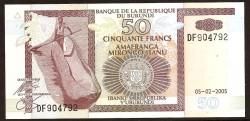 Burundi 50 Francos PK 36e (05-02-2.005) S/C