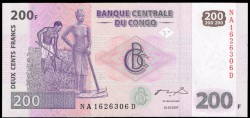 República Dem. del Congo 200 Francos PK 99a (31-7-2.007) S/C